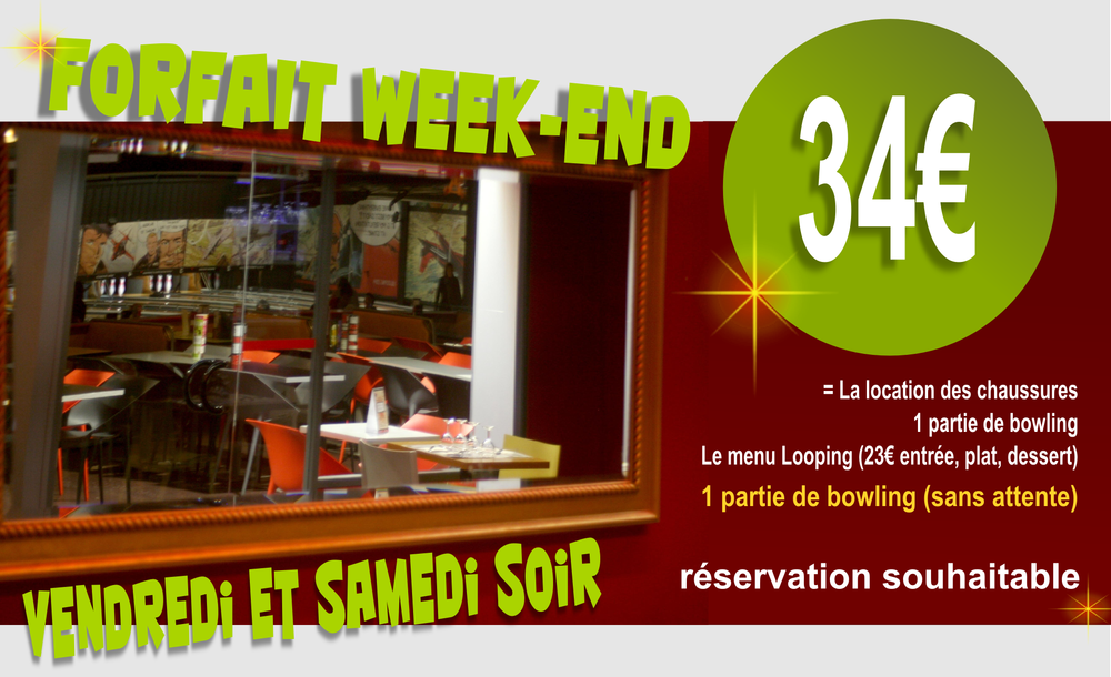 forfait weekend bowling et repas